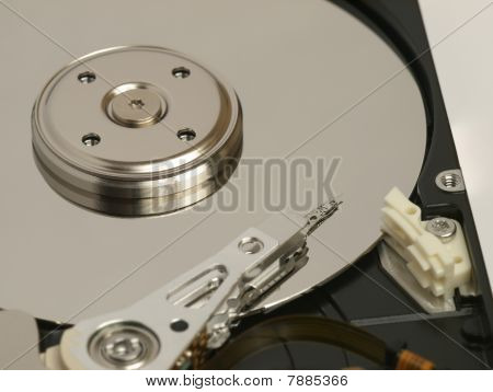 Internal view of hard drive