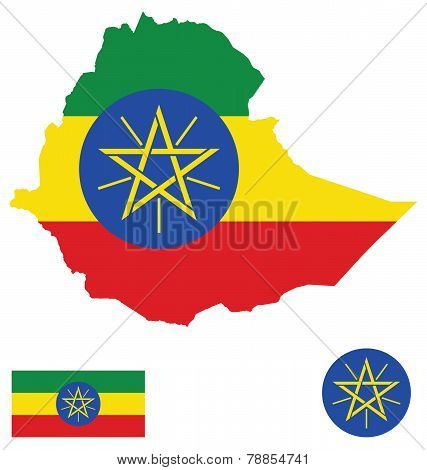 Federal Democratic Republic of Ethiopia Flag