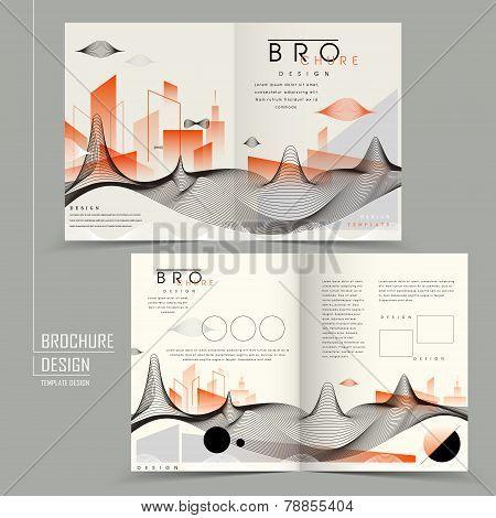 Futuristic Half-fold Brochure Design