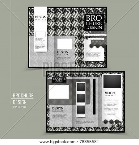 Fashion Tri-fold Brochure Template Design