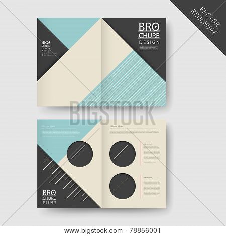 Modern Geometric Half-fold Brochure