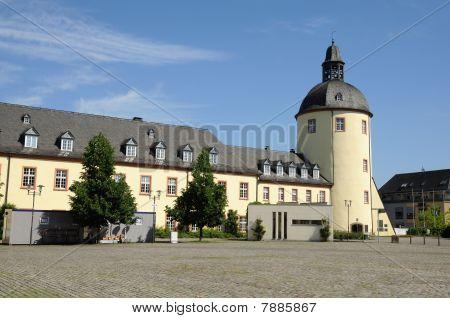 Castle In Town Siegen, Germany