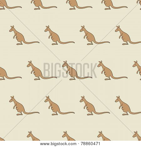 Pattern With Kangaroo
