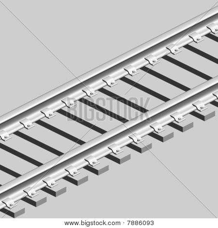 3D Konzept endless Train track