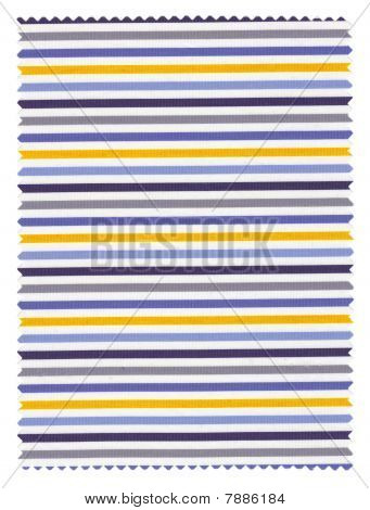 Blue and Yellow Striped Fabric Swatch