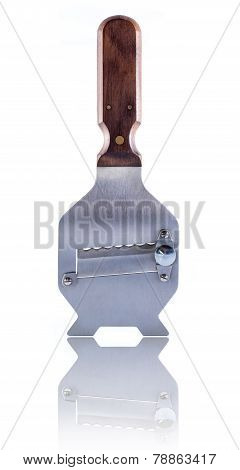Stainless Steel And Wood Truffle Slicer Isolated