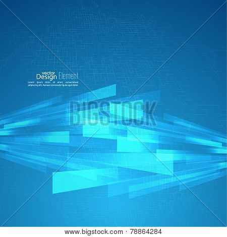 Abstract vector background with glowing grid
