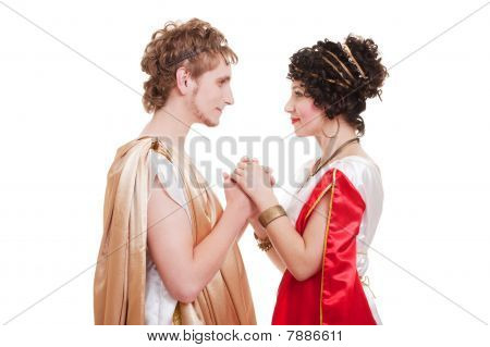 Beautiful Couple In Greek Style