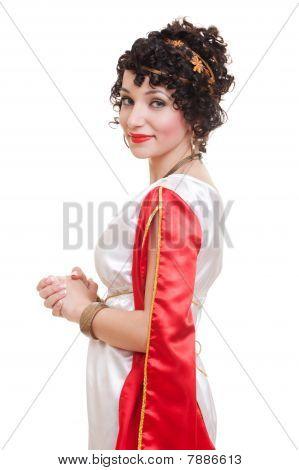 Beautiful Woman Greek Styled