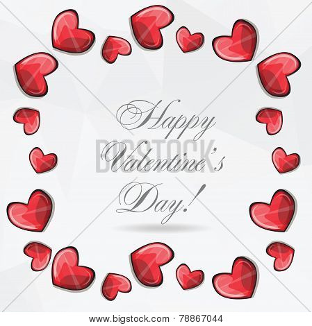 Valentines Composition Of The Hearts. Vector