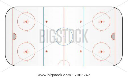 Ice hockey pitch vector