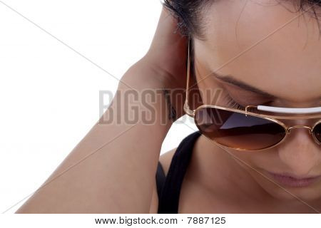 Girl Wears Sunglasses.