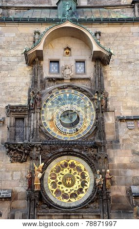 Historical Astronomical Clock, Prague, Czech Republic, Europe