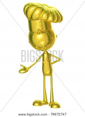 Golden Chet With Presentation Pose
