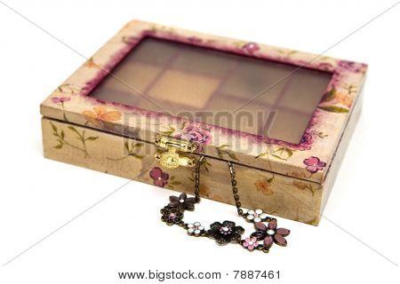 Decoupage Box For Bijouterie
