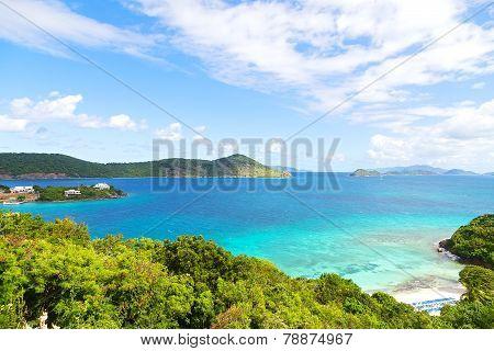 Tropical destination at Point Pleasant Bay St Thomas Island.