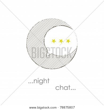 Night Chat Vector Bubble