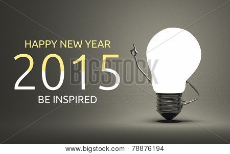 Happy New Year 2015, Be Inspired Greeting Card