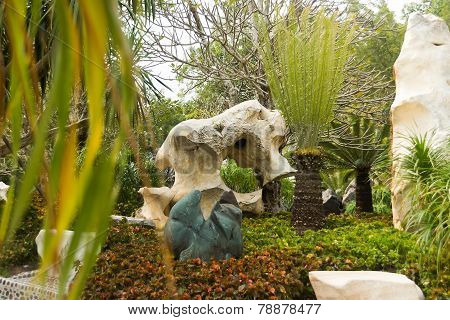 Pattaya, Thailand - January 17, 2012: Landscape design in Million Years Stone Par