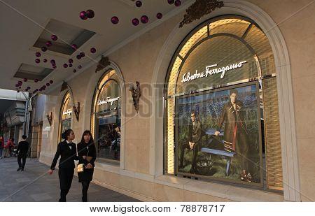 A store of Salvatore Ferragamo luxury brand in Hanoi