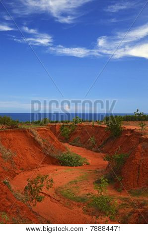 Red Canyon In Mui Ne, Vietnam.