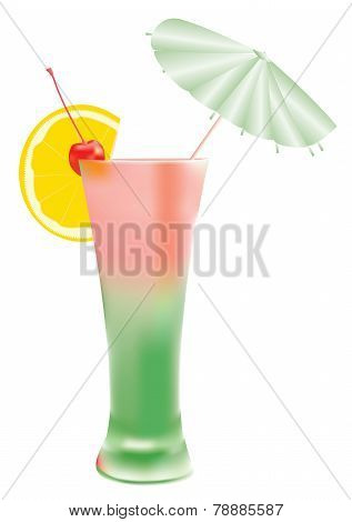 Glass with cocktail