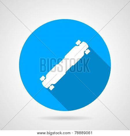 Flat vector icon for longboard