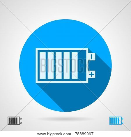 Battery sign flat vector icon