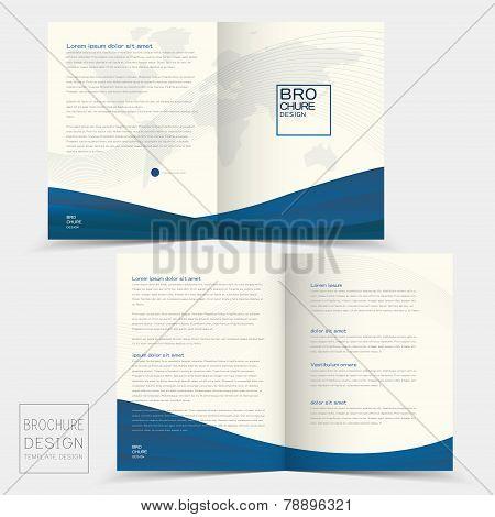 Half-fold Brochure Design Templates With Dynamic Wave