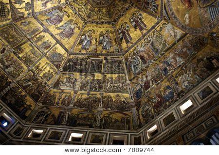Duomo Baptistery Santa Maria Dei Fiore In Florence, Italy