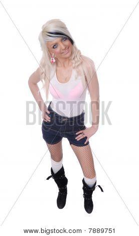 Cute Teenager in kurzen Hosen