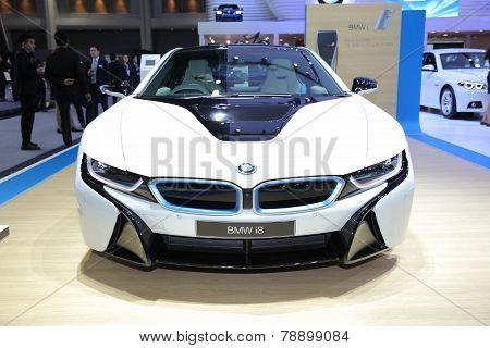 Bangkok - November 28: Bmw I8  Car On Display At The Motor Expo 2014 On November 28, 2014 In Bangkok