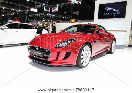 Bangkok - November 28: Jaguar F-type Car On Display At The Motor Expo 2014 On November 28, 2014 In B