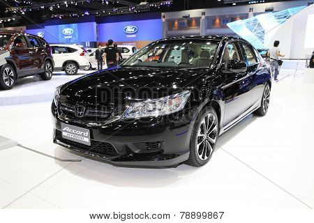 Bangkok - November 28: Honda Accord Hybrid Car On Display At The Motor Expo 2014 On November 28, 201