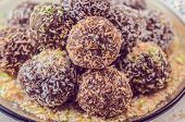 foto of flaxseeds  - Delicious raw candy with milled sunflower seeds - JPG