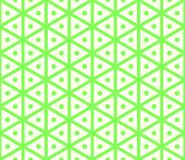 foto of hexagon pattern  - Green sweet and vintage hexagon and circle seamless pattern on pastel background - JPG