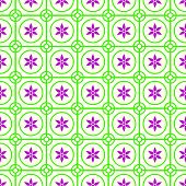 foto of symmetry  - Green Vintage blossom and circle and hexagon and rectangle seamless pattern on pastel background - JPG
