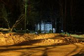 image of novosibirsk  - Lighted house in the village at night - JPG