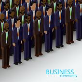 picture of politician  - vector 3d isometric  illustration of business or politics community - JPG