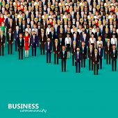 image of tied  - vector flat illustration of business or politics community - JPG