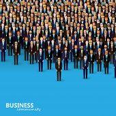 foto of politician  - vector flat illustration of business or politics community - JPG