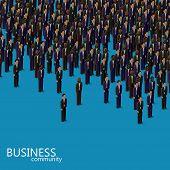stock photo of politician  - vector 3d isometric illustration of business or politics community - JPG