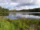 pic of siberia  - Lake in the Russian taiga in Siberia - JPG
