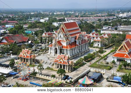 Church Of Thai Temple In Central Part Of Thailand