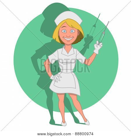 Nurse with a syringe