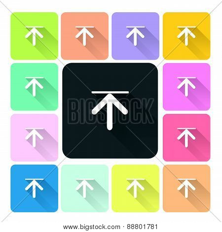 Download Icon Color Set Vector Illustration