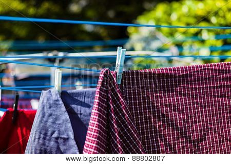 Laundry On Washing Line