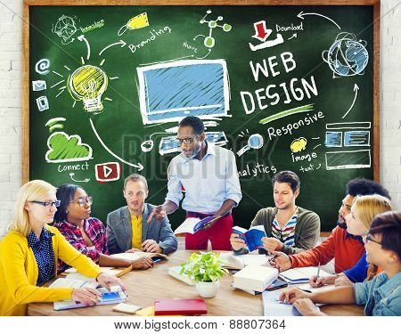 Content Creativity Digital Graphic Layout Web Design Webpage Concept