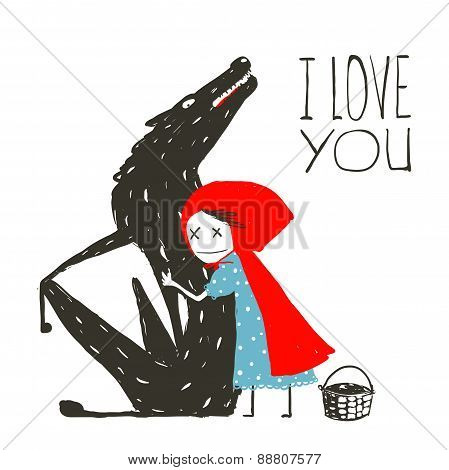 Little Red Riding Hood Loves Black Wolf