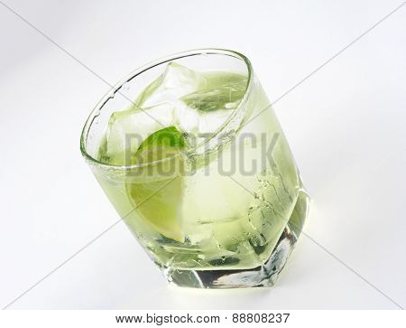 Vodka lime cocktail